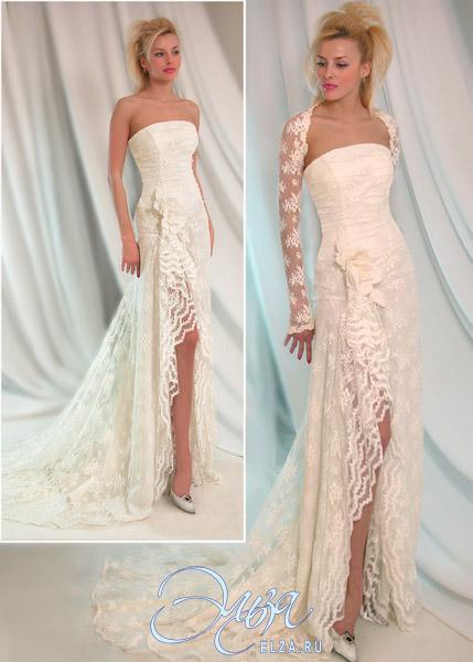 на Свадебные платья с кружевом фото