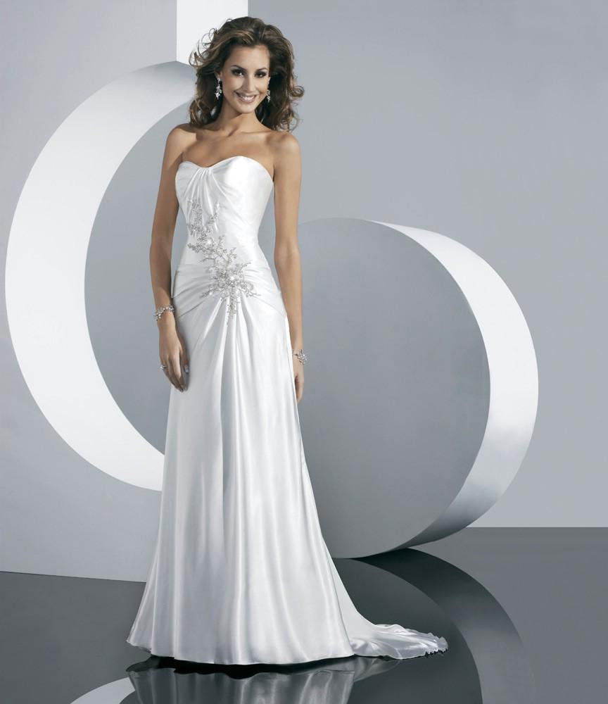 Прямые свадебные платья, чаще очень