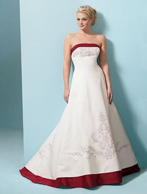 Wedding dress articles colors white or ivory trim for White wedding dress with blue trim