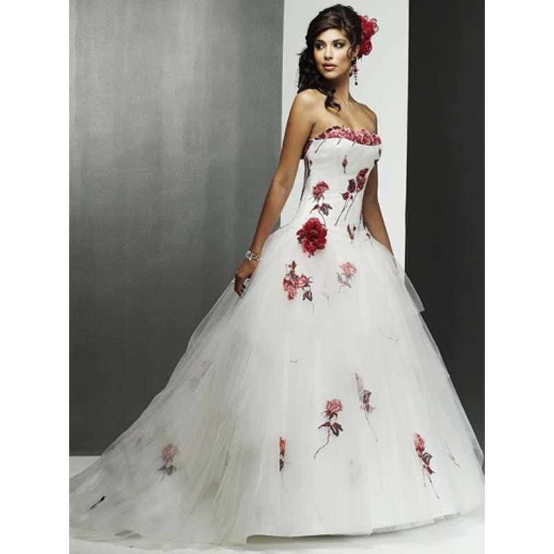 Свадебное платье вышивка цветы