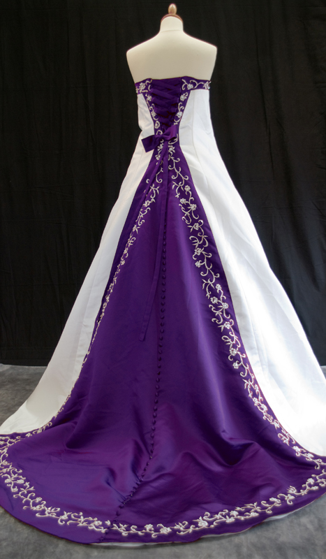 Purple Wedding Dress | Purple Wedding Dress Sash | Purple Wedding