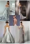Свадебное платье серого или серебристого оттенка подходит для девушек с...