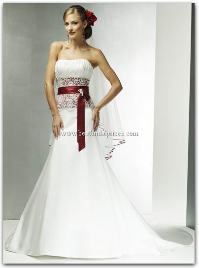 Белое Свадебное Платье С Красной Лентой 64